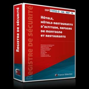 Registre de sécurité pour ERP du types O - OA - REF - N - france selection - 2224585707033 -