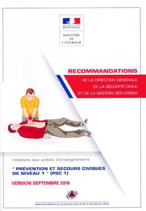 Recommandations relatives à l'unité d'enseignement PSC1 - france selection - 2225466140444 -