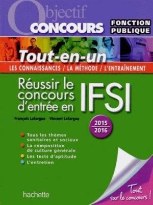 Réussir le concours d'entrée en IFSI - hachette education - 9782012706613 -
