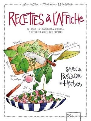 Recettes à l'affiche. 52 recettes fraîcheur à afficher & à déguster au fil des saisons - Larousse - 9782035923875 -