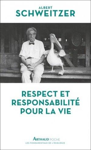 Respect et responsabilité pour la vie - Flammarion - 9782081476394 -