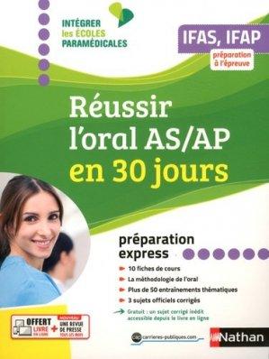 Réussir l'oral AS/AP en 30 jours - nathan - 9782091652634