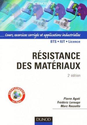 Résistance des matériaux - dunod - 9782100516346 -