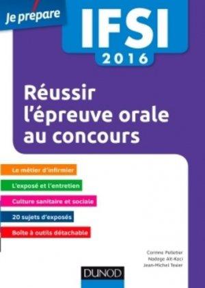 Réussir l'épreuve orale au concours IFSI 2016 - dunod - 9782100705375 -