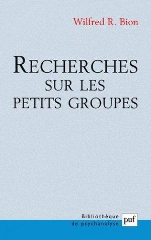 Recherches sur les petits groupes - puf - presses universitaires de france - 9782130527312 -