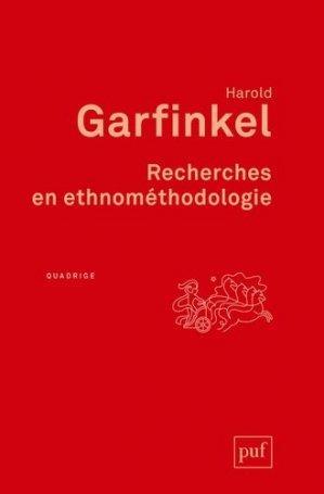 Recherches en ethnométhodologie - puf - presses universitaires de france - 9782130824787 -