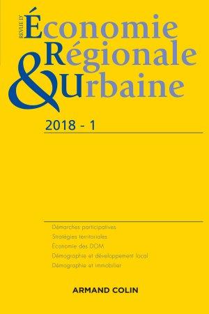 Revue d'économie régionale et urbaine nº 1/2018 Varia - armand colin - 9782200931599 -