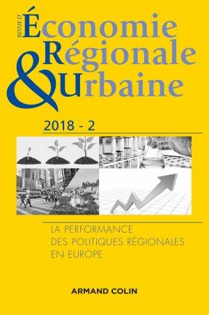 Revue d'économie régionale et urbaine nº 2/2018 - armand colin - 9782200931919 -