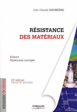 Résistance des matériaux - eyrolles - 9782212136234 -