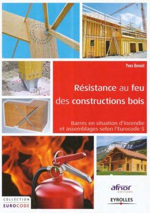 Résistance au feu des constructions bois - eyrolles - 9782212141580 -