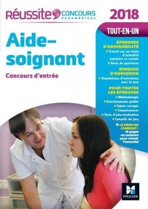 Réussite Concours Aide-soignant - Concours d'entrée 2018 - foucher - 9782216145089 -