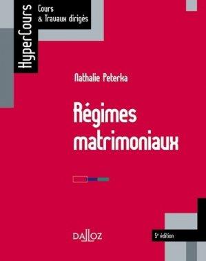 Régimes matrimoniaux. 5e édition - dalloz - 9782247169405 -