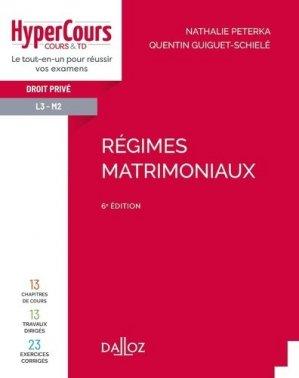 Régimes matrimoniaux - dalloz - 9782247199075 -