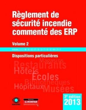 Règlement de sécurité incendie commenté des ERP - Volume 2 - le moniteur - 9782281115963 -
