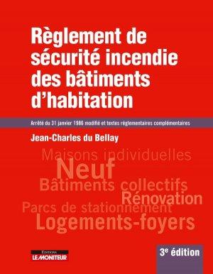 Règlement de sécurité incendie des bâtiments d'habitation - le moniteur - 9782281119619 -