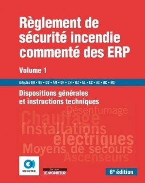 Règlement de sécurité incendie commenté des ERP - groupe moniteur - 9782281143515 -