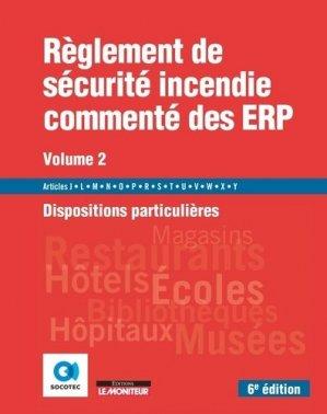 Règlement de sécurité incendie commenté des ERP - groupe moniteur - 9782281143539 -