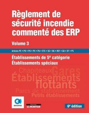 Règlement de sécurité incendie commenté des ERP - le moniteur - 9782281143553 -