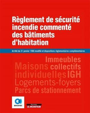 Règlement de sécurité incendie commenté des bâtiments d'habitation - groupe moniteur - 9782281144352 -