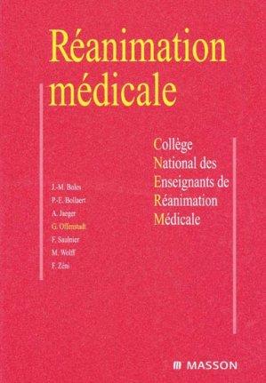 Réanimation médicale - elsevier / masson - 9782294088551 -