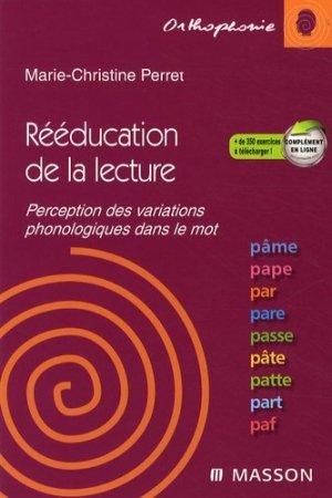 Rééducation de la lecture - elsevier / masson - 9782294706110 -