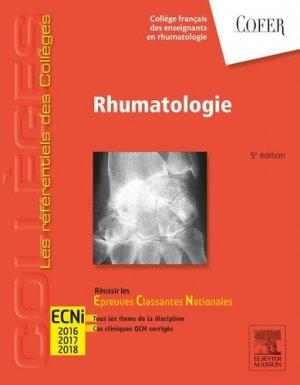 Référentiel Collège de Rhumatologie - elsevier / masson - 9782294738968 -