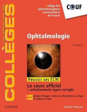 Référentiel Collège d'Ophtalmologie - elsevier / masson - 9782294748400 -