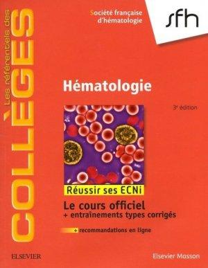 Référentiel Collège d'Hématologie - elsevier / masson - 9782294751080 - livre médecine 2020, livres médicaux 2021, livres médicaux 2020, livre de médecine 2021