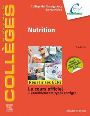 Référentiel Collège de Nutrition - elsevier / masson - 9782294759925 -