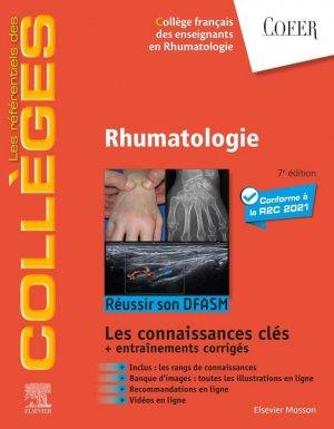 Référentiel Collège de Rhumatologie - elsevier / masson - 9782294769757 -