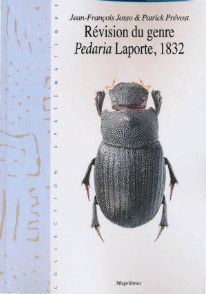 Révision du genre Pedaria Laporte 1832 - magellanes - 9782353871193 -