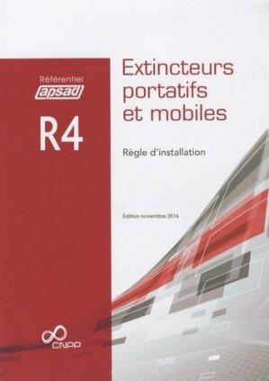 Référentiel APSAD R4- extincteurs portatifs et mobiles - cnpp - 9782355052385 -