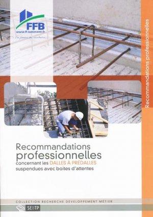 Recommandations professionnelles concernant les dalles à prédalles suspendues avec boites d'attentes - sebtp - 9782359170153 -