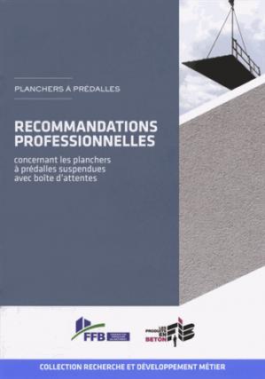 Recommandations professionnelles concernant les planchers à prédalles suspendues avec boîte d'attentes - sebtp - 9782359170504 -