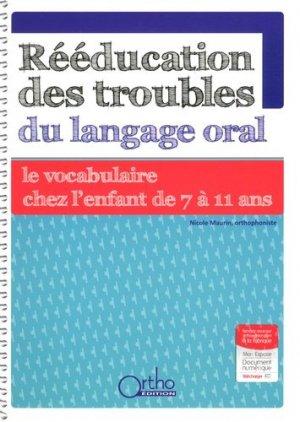 Rééducation des troubles du langage oral : le vocabulaire de 7 à 11 ans - ortho - 9782362350948 -