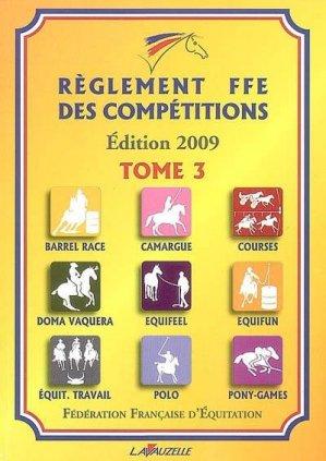 Règlement FFE des compétitions Tome 3 - lavauzelle - 9782702514917 -