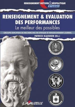 Renseignement & évaluation des performances. Le meilleur des possibles - lavauzelle - 9782702516584 -
