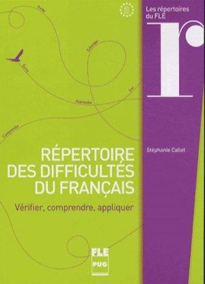 Répertoire des difficultés du français - PUG - 9782706117992 -