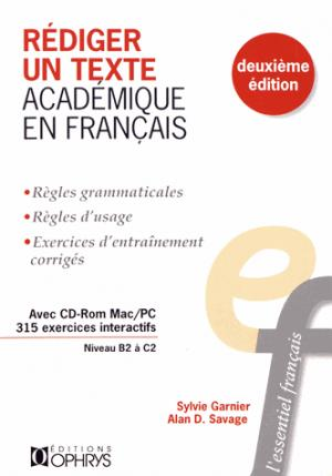 Rédiger un texte académique en français - ophrys - 9782708015319 -