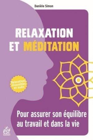 Relaxation et méditation - ESF Editeur - 9782710141501 -