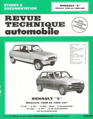 Renault ''5'' Moteurs 1300 et 1400 cm3 - etai - editions techniques pour l'automobile et l'industrie - 9782726842638 -