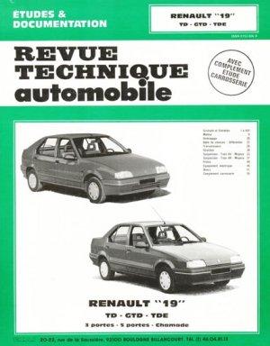 Renault ''19'' TD GTD TDE - etai - editions techniques pour l'automobile et l'industrie - 9782726851111 -