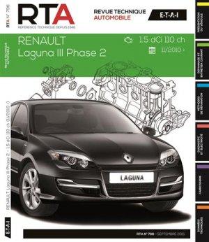 Renault Laguna III ph2 1.5dCi 110ch 11/2010 - etai - editions techniques pour l'automobile et l'industrie - 9782726879658 -