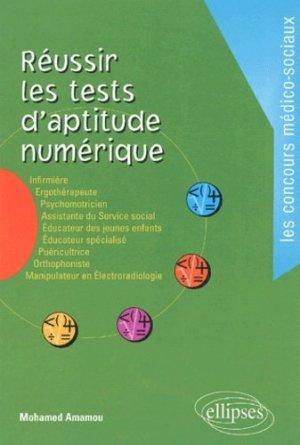Réussir les tests d'aptitude numérique - ellipses - 9782729813765 -