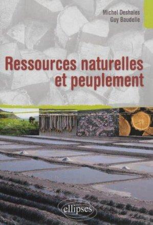 Ressources naturelles et peuplement - ellipses - 9782729877446 -