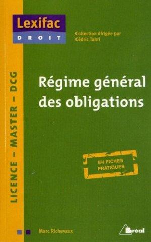 Régime général des obligations - Bréal - 9782749531588 -