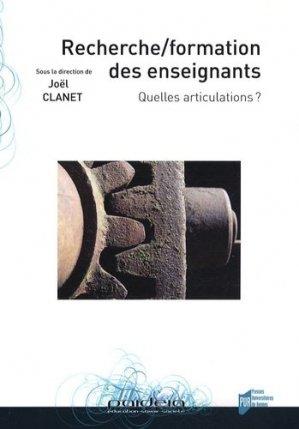 Recherche/formation des enseignants - presses universitaires de rennes - 9782753507876 -