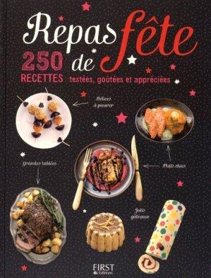 Repas de fête. 250 recettes testées, goûtées et appréciées - first editions - 9782754079976 -
