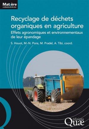 Recyclage de déchets organiques en agriculture - quae - 9782759225095 -
