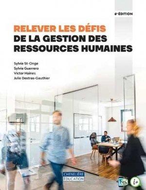 Relever les défis de la gestion des ressources humaines - cheneliere education (canada) - 9782765075967 -